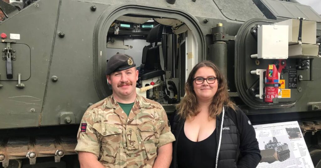 Photo of Lance Corporal Craig Kerr with Erin Price