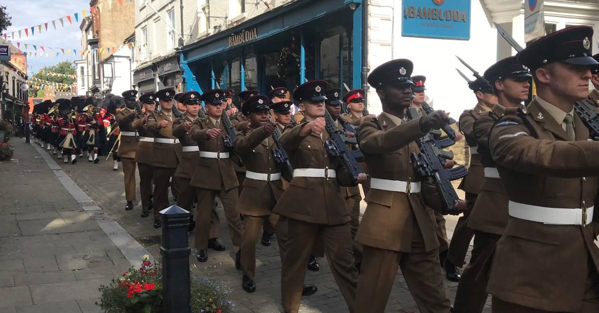 Ripon's Royal Engineers enjoy Freedom of the City