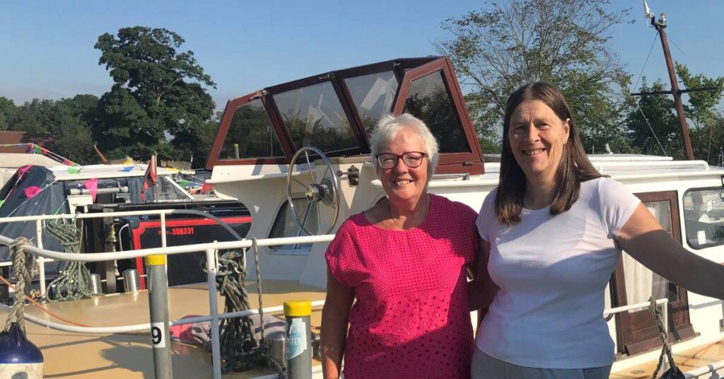 Anne Foster and Karen Riddiough Ripon Motor Boat Club