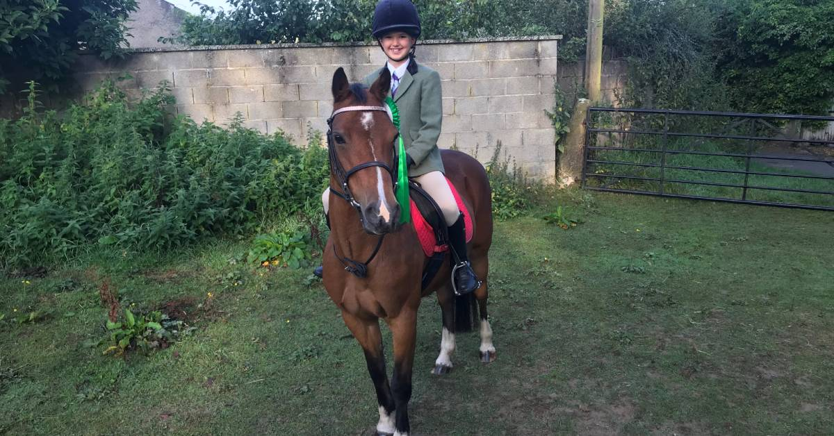 A day to remember at Hickstead for Kirkby Malzeard schoolgirl