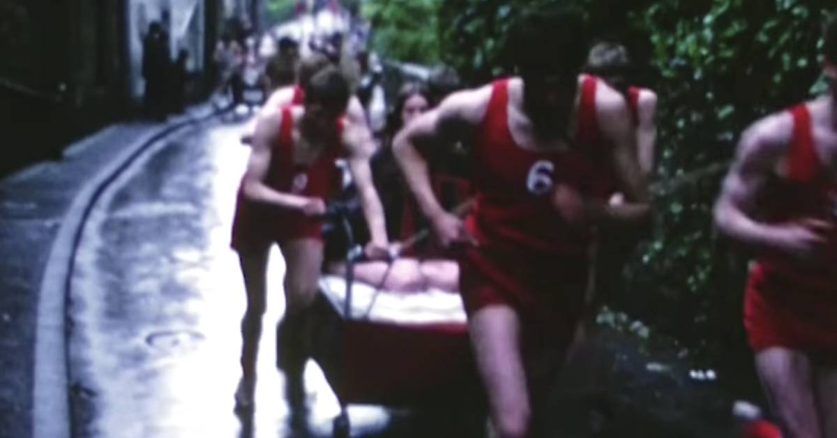 Video shows memories of the 1977 Knaresborough Bed Race