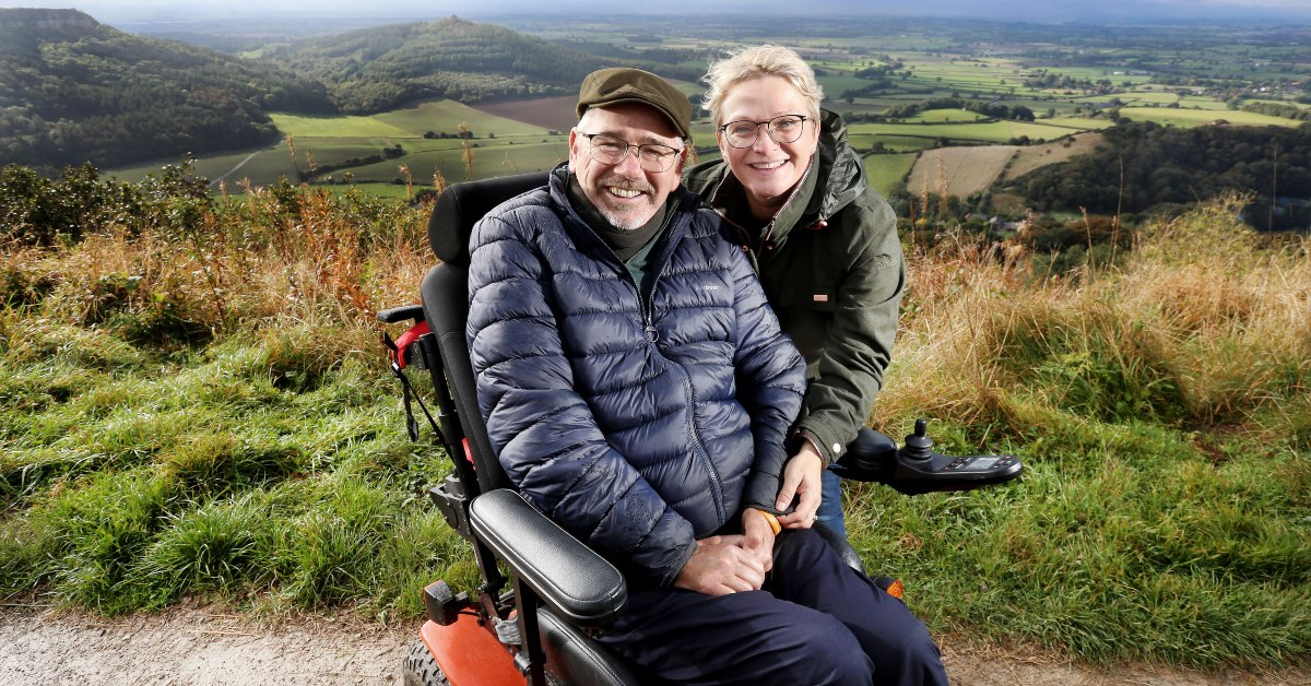 Ian Flatt with his wife Racheal.