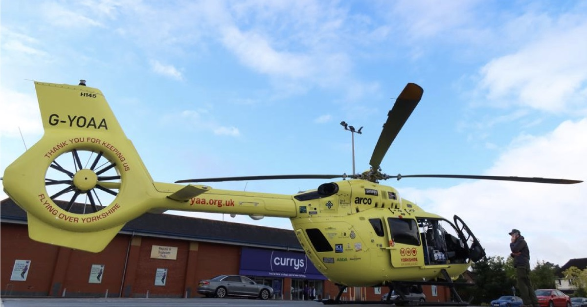 Air ambulance called to incident at Harrogate's Hookstone Park