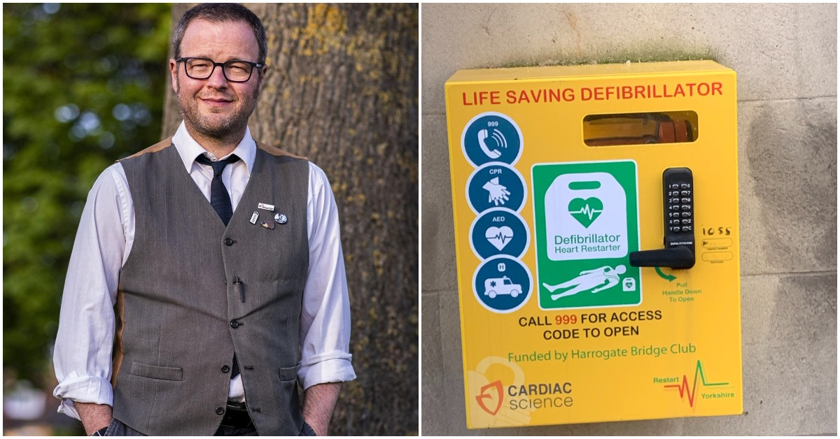 Defibrillator saves man's life in Starbeck